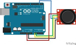 Arduino analog joystick module Fritzing